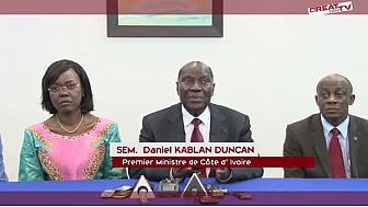 GIABA: Conférence de presse du Premier Ministre ivoirien
