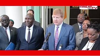 CHAMBRE DE COMMERCE AMERICAINE: AUDIENCE AVEC LE PREMIER MINISTRE IVOIRIEN A ABIDJAN